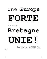 Une Europe forte dans une Bretagne Unie!